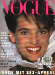 Click here to enlarge image and see more about item V1088: Rare VOGUE Foreign Deutsch Magazine 1988