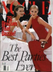 Click here to enlarge image and see more about item V1297: Vogue Magazine Dec 1997 Fashion Models
