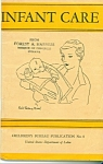 Click here to enlarge image and see more about item Z1989: Infant Care - Dept. of labor publication -  1940