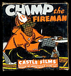 "8 Mm Movie ""chimp The Fireman"" 1930s"