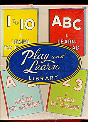 1938 Play & Learn Library Activity Set - Unused (Image1)