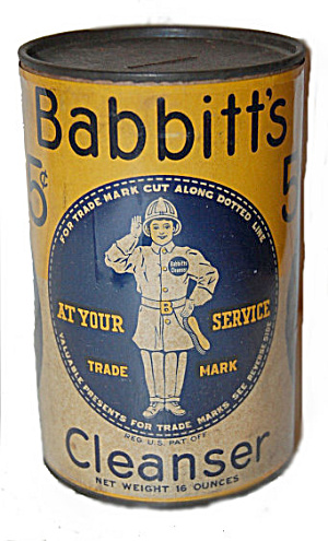 Early 1900s Babbitt's Cleanser Advertising Bank