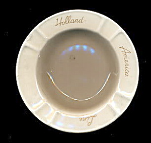 Vintage Holland America Line Ceramic Ashtray