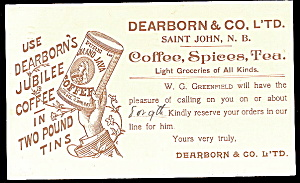 1914 Dearborn & Co Coffee Advertising Postcard