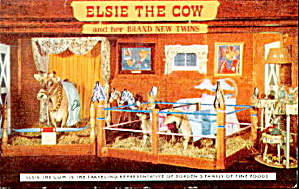 Bordens Cheese Elsie Elmer Beauregard 1960 Postcard