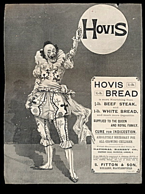 """hovis Bread"" 1903 Clown Advertisement"