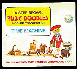 1950s Buster Brown Rub-r-doodles Time Machine Book