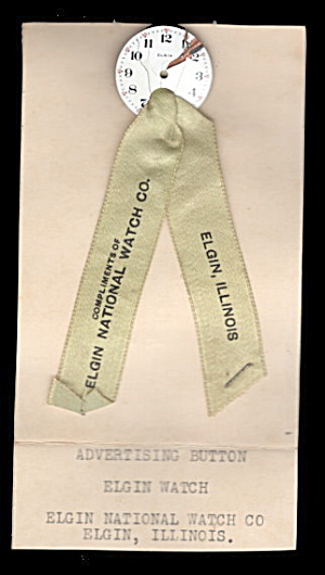 Early 1900s Elgin National Watch Co Ribbon Advertising