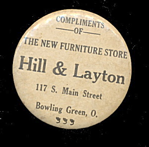 1930s Advertising Hill & Layton Store OH Mirror (Image1)