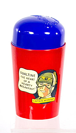 1950s Ovaltine Captain Midnight Cold Mug W Lid