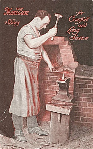 1907 Menzease Shoes Advertising Postcard