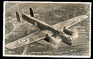 1940 Real Photo Armstrong Whitworth Whitley Postcard (Image1)