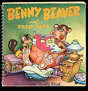 """benny The Beaver"" Animated 1945 Book"