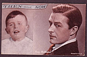 1960s Ray Milland 'Then and Now' Actor Arcade Card (Image1)