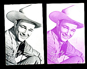2 1930s Roy Rogers Cowboy Arcade Cards