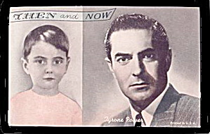 1960s Tyrone Power ´then And Now´ Actor Arcade Card
