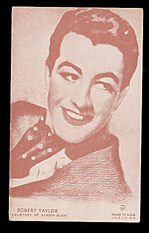 1940s Robert Taylor (Actor) Arcade Card