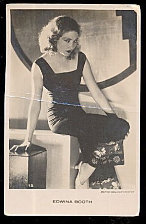 Edwina Booth Actress 1920s Black & White Postcard