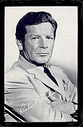 1960s Richard Basehart Actor Arcade Card (Image1)