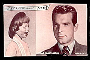 1960s Fred MacMurray 'Then and Now' Actor Arcade Card (Image1)