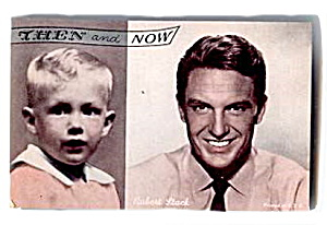 1960s Robert Stack ´then And Now´ Actor Arcade Card