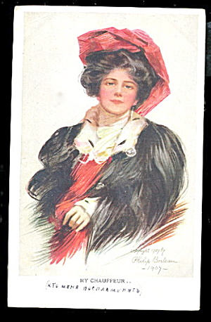 1910 Philip Boileau 'my Chauffeur' Pretty Girl Postcard