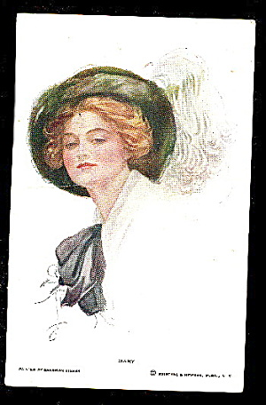 "Harrison Fisher ""mary"" Girl 1908 Postcard"
