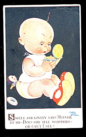 Mabel Lucie Attwell 'sweet & Lovely' Child Postcard