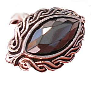 "AVON 1977 ""Shadow Play"" Hematite Ladies Ring (Image1)"