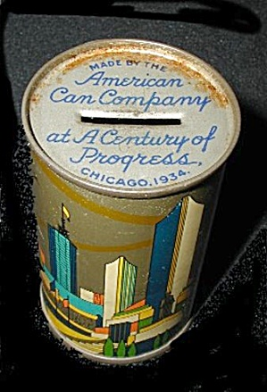 American Can Company Souvenir Metal Bank
