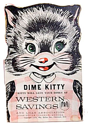 1954 Western Savings (Phoenix Az) Dime Kitty Bank