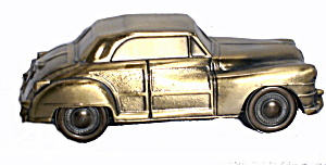 1974 Banthrico 1946 Chrysler Brass Car Bank