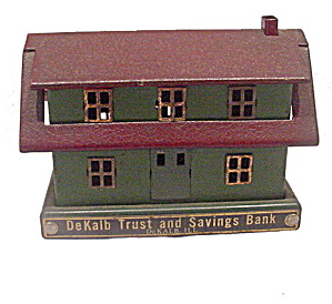 Early 1900s Dekalb Trust & Savings Building Bank