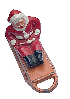 B194 Barclay Santa Claus On Sled Ca 1935