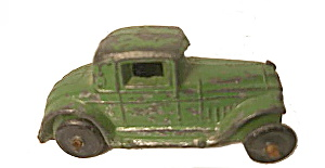 1930's Midwest Novelty Slush Cast Green Chrysler Coupe