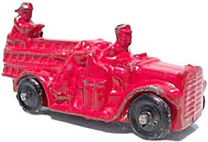 1930's Barclay Slush Cast Metal Ladder Fire Truck