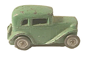 1930's Midwest Novelty Green 5th Wheel Coupe