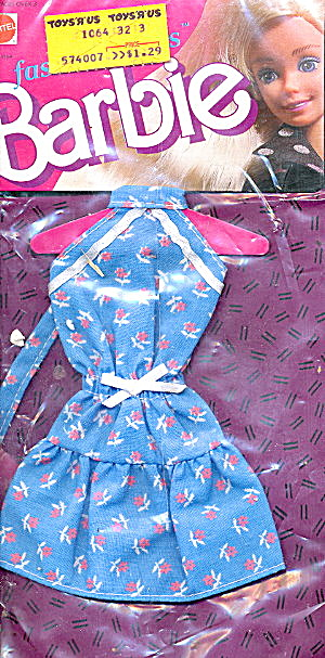 1988 Barbie 1063 Fashion Finds Dress Mint On Card