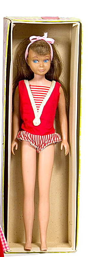 1963 Barbie Skipper Doll No.0950 Auburn In Box