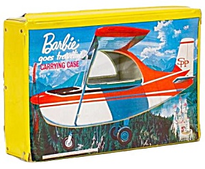 1965 Barbie 'goes Traveling' Carrying Case In Yellow