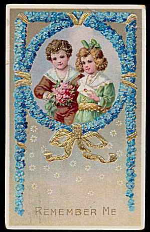Gorgeous Children 'Remember Me' German 1911 Postcard (Image1)