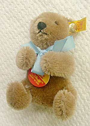 "3 1/2"" Brown Steiff Original Teddy Bear-# 0202/12 (Image1)"