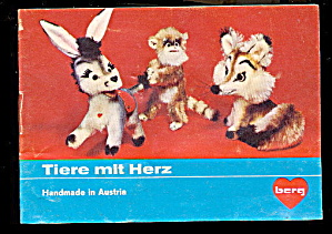1960s-1970s Berg/Steiff Austria Stuffed Animal Catalog (Image1)