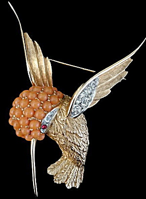 Vintage Boucher Hummingbird Bird Brooch