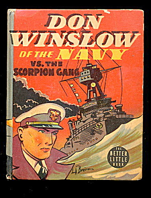 1938 Don Winslow Of The Navy Blb Big Little Book