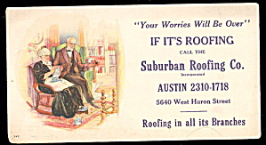 1940s Suburban Roofing Co Ink Blotter