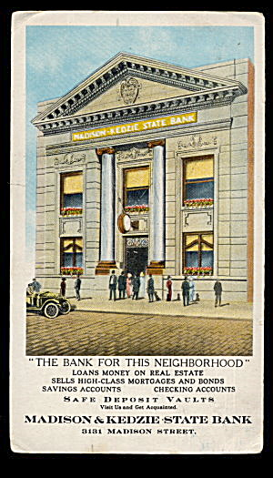 1920s Madison & Kedzie State Bank Ink Blotter (Image1)