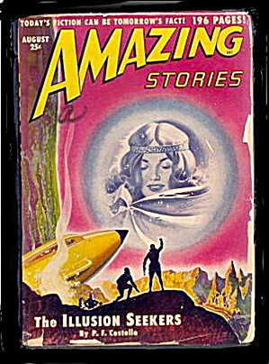 Amazing Stories August 1950 Pulp Magazine