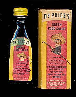 1910-1920 Dr. Price's Green Food Coloring in Box (Image1)