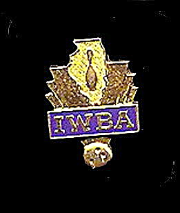 Vintage IWBA (International Womans Bowling Assoc) Pin (Image1)